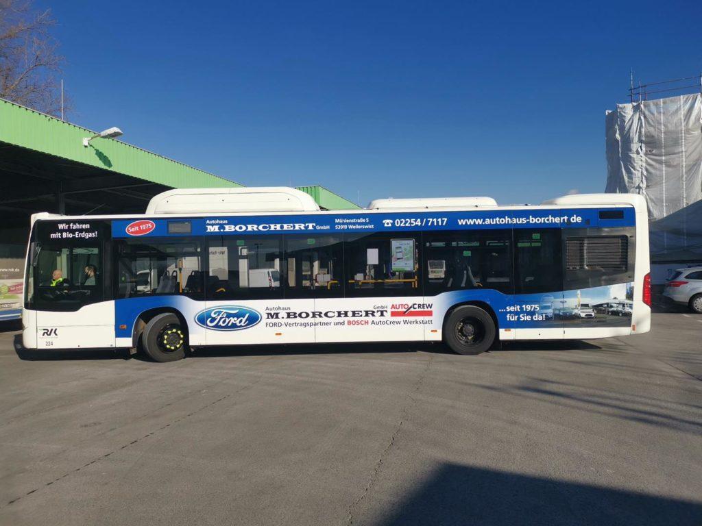 Buswerbung Borchert